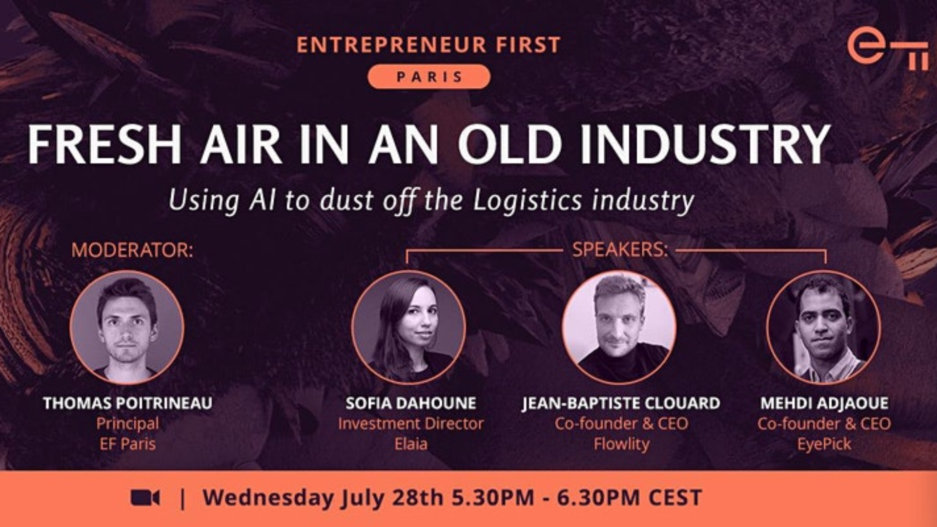 Thumbnail for event Fresh Air in an Old Industry: Using AI to Dust Off the Logistics Industry